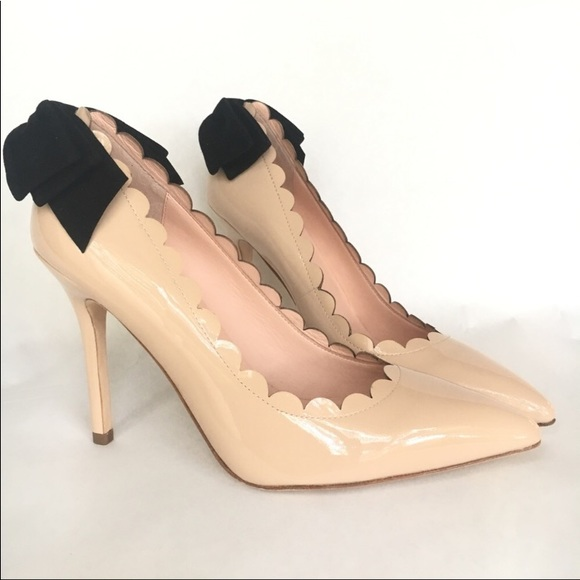 18799f6637c NIB Kate Spade Emana patent nude heels bow 8.5